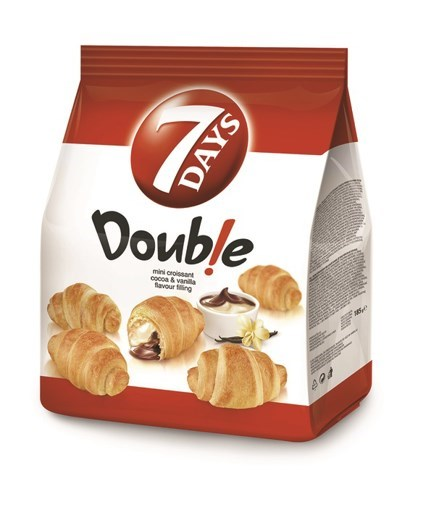 Imagine 7Days mini dublu cu cacao si vanilie 185gr