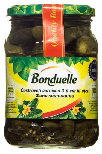Imagine Bonduelle Castraveti Cornichon Borcan 580 ml.