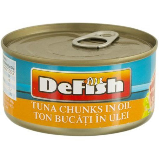 Imagine Defish Ton bucati in Ulei 170 gr