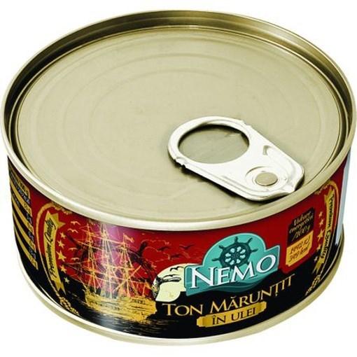 Imagine Nemo Ton maruntit in ulei 185 gr