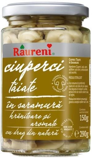 Imagine Raureni Ciuperci Taiate in Saramura 290 gr