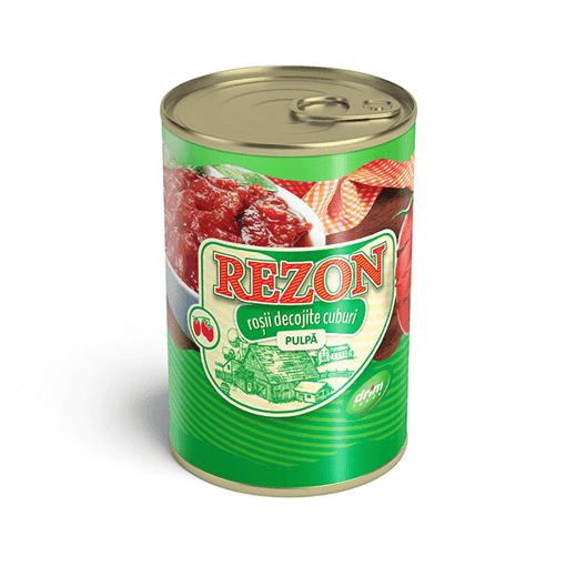 Imagine Rezon Rosii decojite cuburi 400 gr