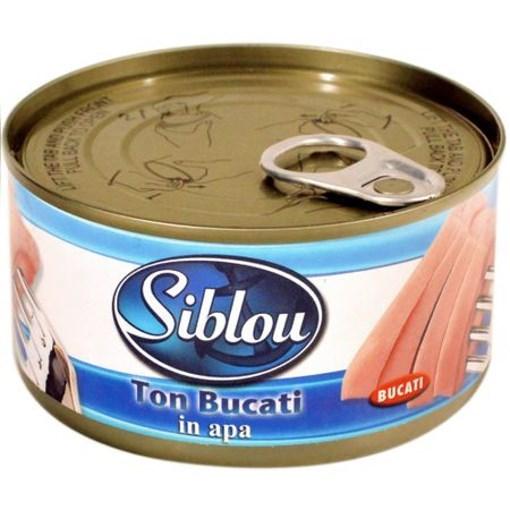 Imagine Siblou ton bucati in apa 185 gr