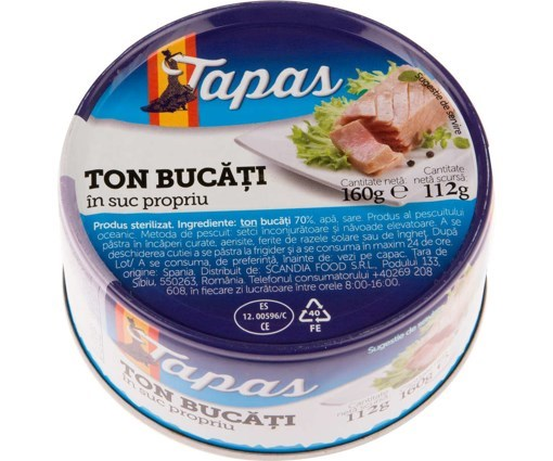 Imagine Tapas Ton bucati in suc propriu 160 gr