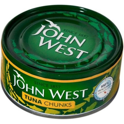 Imagine Ton bucati in ulei de floarea soarelui John West 145 gr
