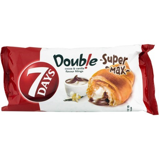 Imagine Croissant 7Days dublu cu cacao si vanilie, 80g