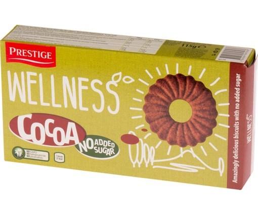 Imagine Biscuiti cu cacao Wellness, 115 gr.