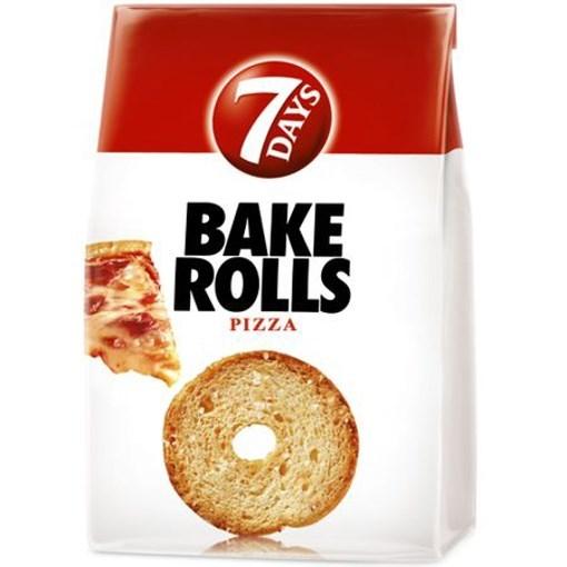 Imagine 7Days Bakerolls cu pizza 80 gr