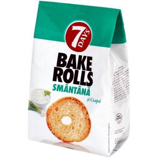 Imagine 7Days bakerolls cu smantana si ceapa 80 gr