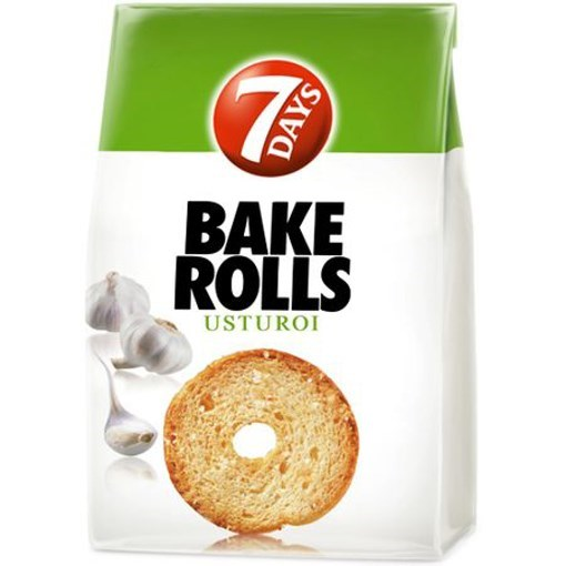 Imagine 7Days bakerolls cu usturoi 80gr