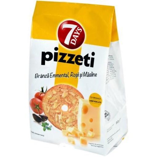 Imagine 7Days Pizzeti cu branza si rosii si masline 80 gr