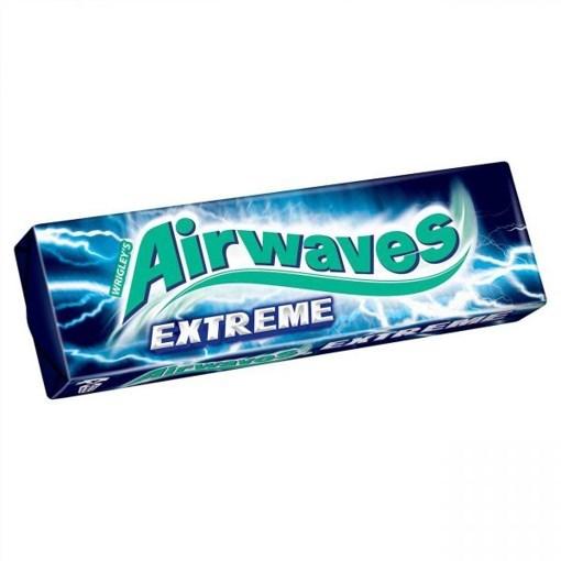 Imagine Guma de mestecat Airwaves Pastile Extreme Albastru Supermint