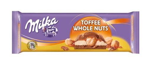 Imagine Milka Ciocolata Alune Intregi si Caramel 300 grame