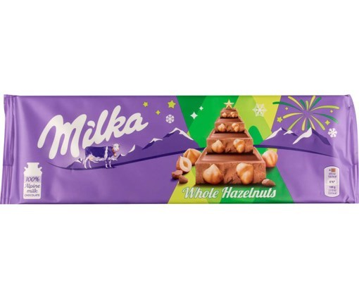 Imagine Milka Ciocolata Alune Intregi, 270 gr.