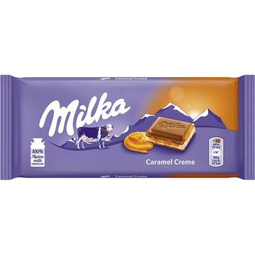 Imagine Milka ciocolata caramel cream, 100 gr.