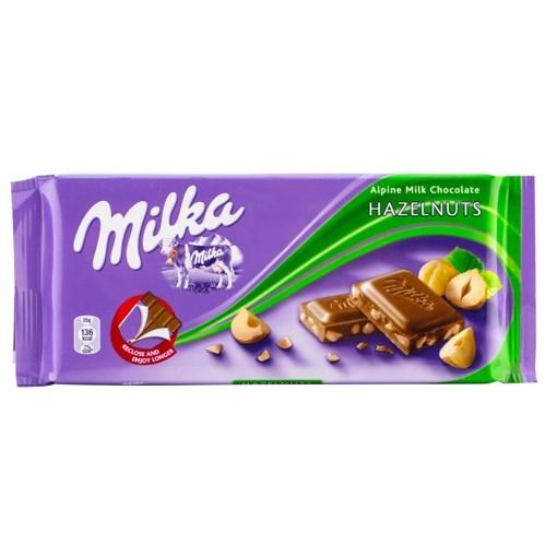 Imagine Milka ciocolata cu alune 100g