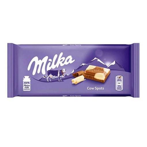 Imagine Milka ciocolata cu lapte si ciocolata alb 100g