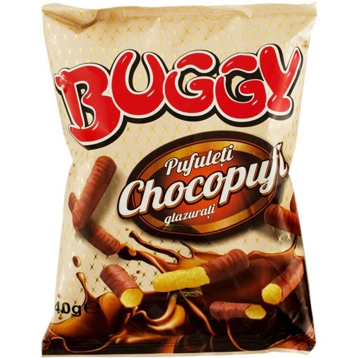 Imagine Pufuleti cu Ciocolata Buggy, 40 gr.