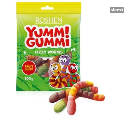 Imagine Yummi Gummi Fizzy Worms 100g