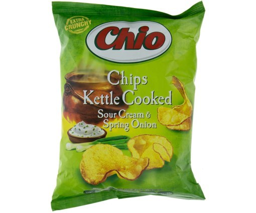 Imagine Chio Kettle Chips Smantana & Ceapa Verde, 80 gr.