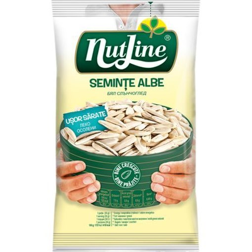 Imagine Nutline seminte floarea soarelui albe usor sarate 100 gr.