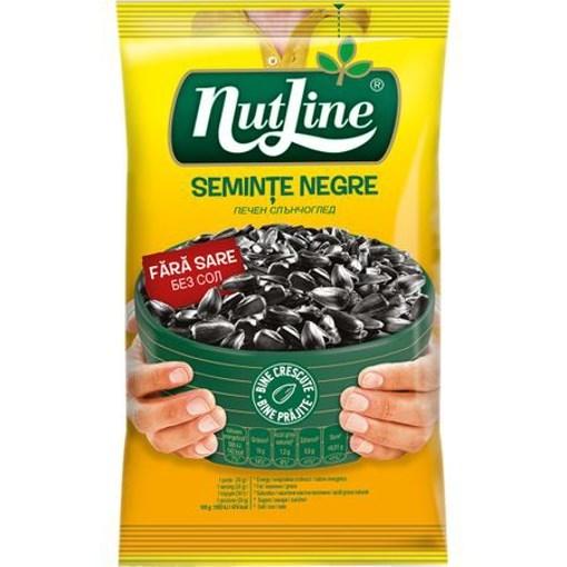 Imagine Nutline seminte floarea soarelui negre cu sare 100 gr.