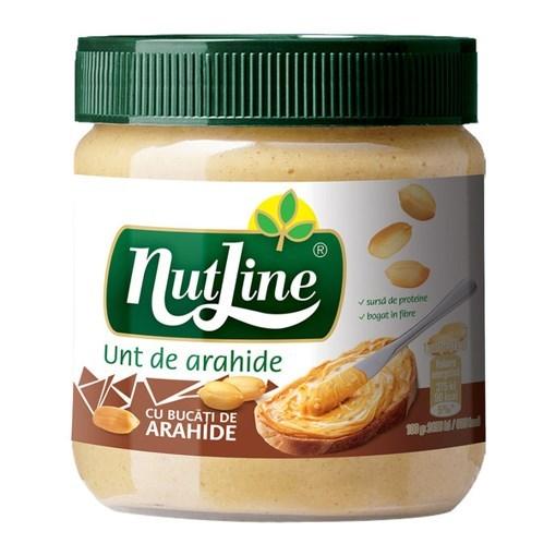 Imagine Nutline unt de arahide, crocant 350 gr.