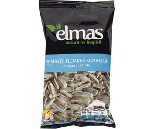 Imagine Seminte floarea soarelui pestrite coapte cu sare Elmas 100 grame