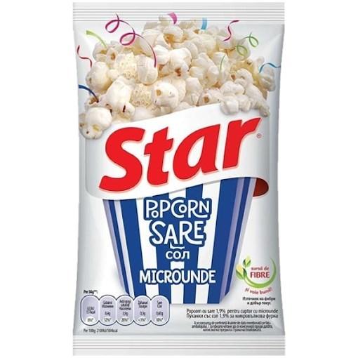 Imagine Star popcorn cu sare 87gr