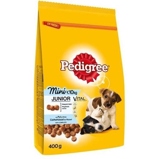 Imagine Pedigree Junior, talie mica, Pui si Orez, 400 gr.