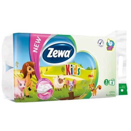 Imagine Hartie Igienica Zewa Kids Aqua - 3 straturi/8 role