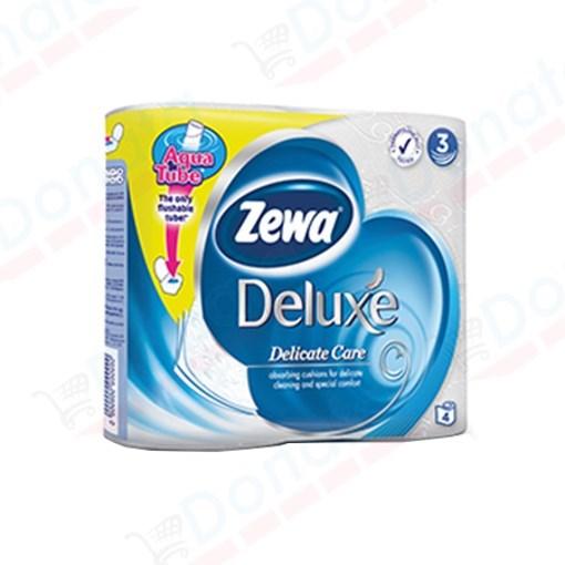 Imagine Hartie Igienica Zewa Pure White - 3 straturi/4 role