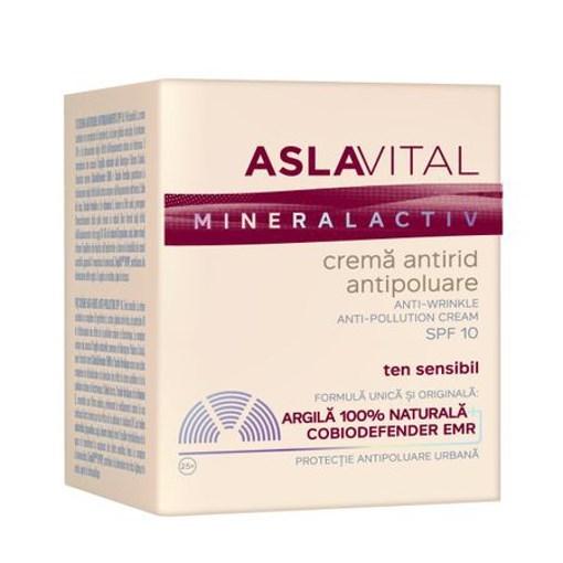 Imagine ASLAVITAL - CREMA ANTIRID ANTIPOLUARE SPF10, 50 ml