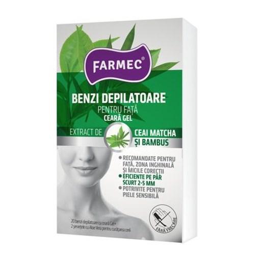 Imagine Benzi depilatoare fata, ceara gel, Farmec