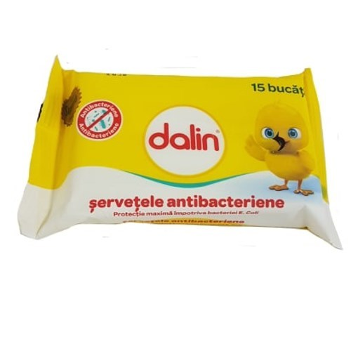 Imagine Dalin Servetele antibacteriene, umede, 15 buc.