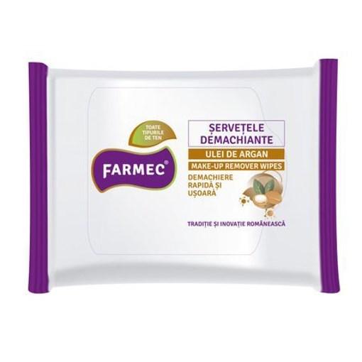 Imagine FARMEC - SERVETELE DEMACHIANTE ARGAN, 20 buc
