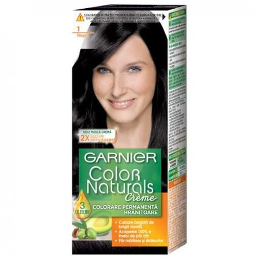 Imagine Garnier vopsea de par cu amoniac Naturals 1 Negru