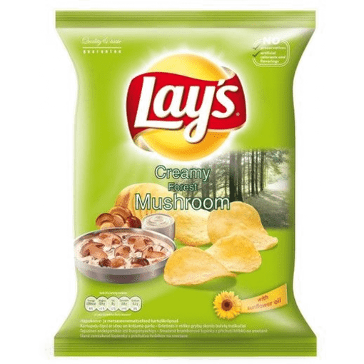 Imagine Lay's Chips Ciuperci si Samantana 140 gr