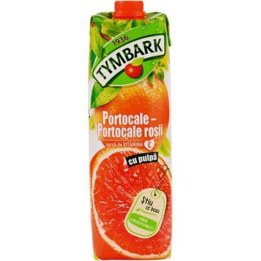 Imagine Tymbark Nectar Portocale Rosii 1L