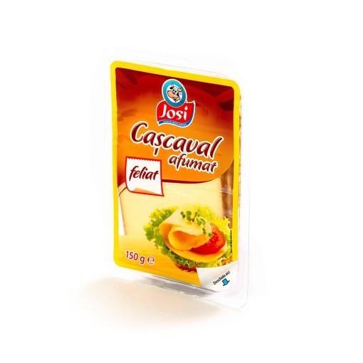 Imagine Cascaval feliat afumat Josi, 150 gr.