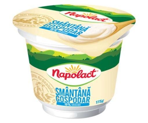Imagine Smantana Napolact 15%, pahar 175 gr.