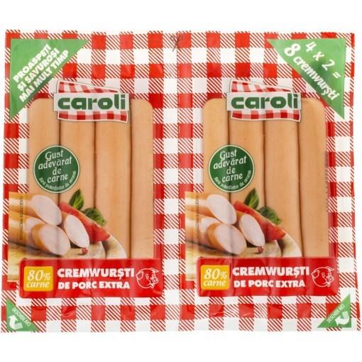 Imagine Cremwursti Caroli, Porc, 80% Carne, 140 gr. x 2