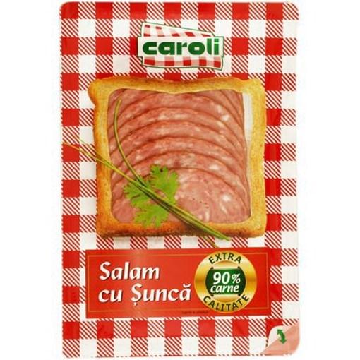Imagine Salam cu Sunca Extra Caroli, feliat, 100 gr.