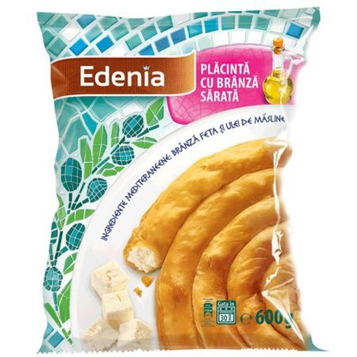 Imagine Placinta Branza Sarata 600 gr. Edenia