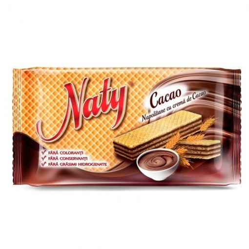 Imagine Napolitane cu cacao Naty, 160 gr