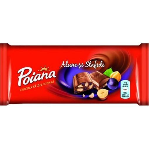 Imagine Poiana Ciocolata cu Alune si Stafide 90 gr