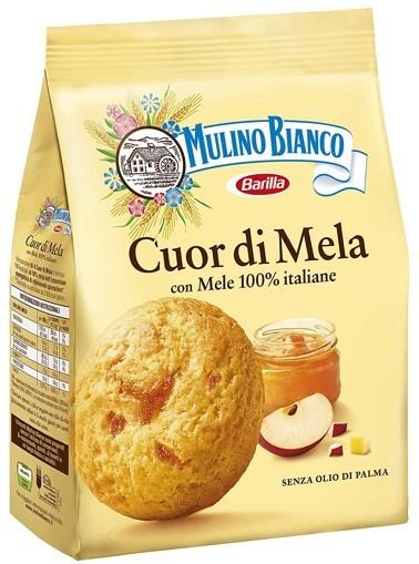 Imagine Barilla Mulino Bianco Cuor di Mela 250 gr - Biscuiti Barilla cu Mere