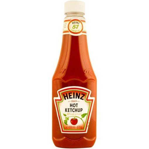 Imagine Ketchip picant Heinz Top Up 570 gr