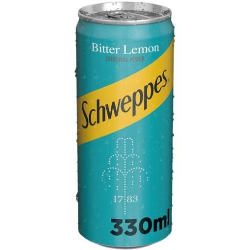 Imagine Schweppes Bitter Lemon 330 ml
