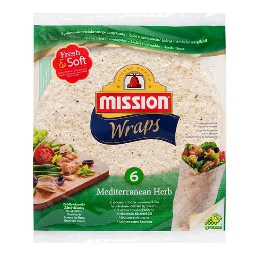 Imagine Mission Wraps - Lipii cu ierburi mediteraneene 370 gr
